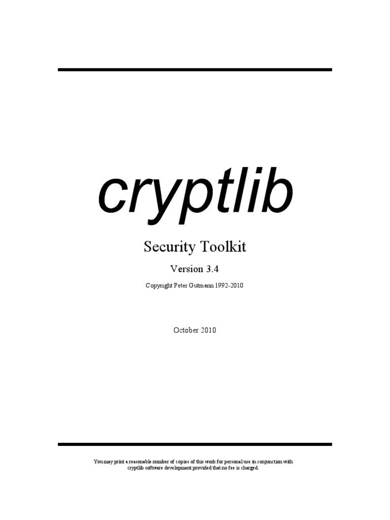 CRYPTLIB MANUAL PDF