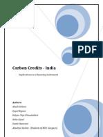 Carbon Credits - Implications in India as Financing Instrument Kalyan Teja