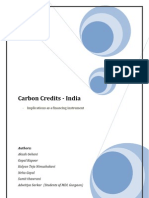 Carbon Credits - Implications in India as Financing Instrument Kalyan Teja