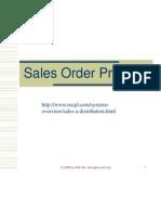Sales Order Process