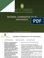 Reforma Comparativa Ley de Insolvencia