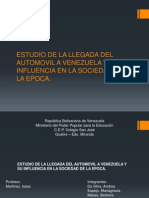 Estudio de La Llegada Del Automovil a Venezuela