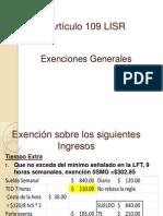 EXPO Artículo 109 LISR