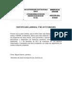 Certificado Laboral y de Actividdades
