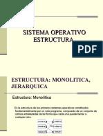Sistema Operativo Estructura