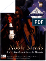 Avalanche Press - Noble Steeds - A d20 Guide to Horses & Mounts