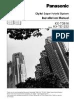 Panasonic KX-TD1232 Installation