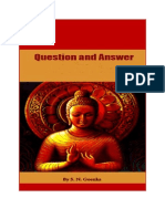 Questions Answers Goenka