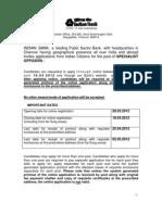 Indian Bank Recruitment 2012