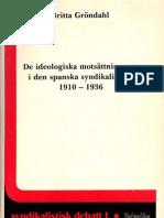 De ideologiska motsättningarna i den spanska syndikalismen 1910-1936
