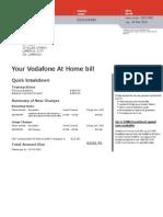 Vodafone Bill March 12