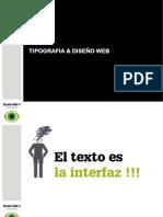 tipografía y diseño web