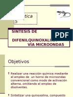 Sintesis de 2,3-difenilquinoxalina via microondas