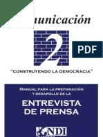 Manual para la Preparación y Desarrollo de la Entrevista de Prensa