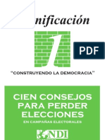 Cien Consejos para Perder Elecciones en Campañas Electorales