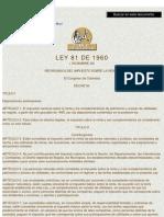LEY 81 DE 1960