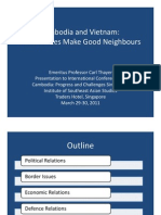 Thayer Power Point Slides for Cambodia Vietnam Relations