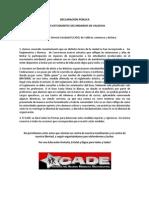 Declaración ante normas impuestas en liceos de Valdivia
