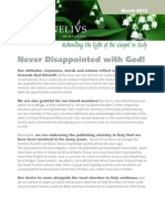Newsletter March 2012
