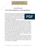 The I-Thou Relation in Zen Buddhism
