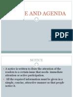 Notice and Agenda