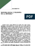 Vilar, Pierre - Historia Social y Filosofía de la Historia