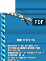 La Corrupcion en El Ecuador