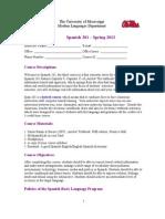 Span 201 Syllabus Spring 2012 (1)