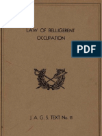 Law of Belligerent Occupation 11