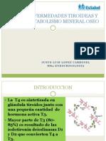 Enfermedades Tiroideas y Metabolismo Mineral Oseo