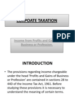 Corpoate Taxation