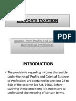 Corpoate Taxation