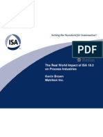 MTK - The Real World Impact of ISA 18.2 on Process Industries