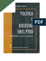 Politica y Sociedad en el Perú - Julio Cotler