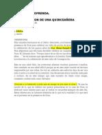 Consagracion Quinceañera