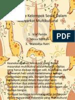 FenomeNA Kelompok Sosial Dalam Masyarkat Multikultural