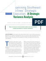 Mudde & Sopariwala_2008_Examining Southwest Airlines' Strategic Execution_ a Strategic Variance Analysis