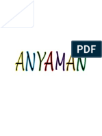 Definisi Anyaman