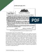 Warrant to Apprehend Riel and Lepine