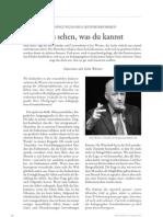 Lass sehen, was du kannst | Interview mit Götz Werner zum bedingungslosen Grundeinkommen