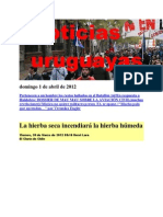 Noticias Uruguayas Domingo 1 de Abril de 2012