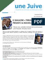 """Michael Abizdid lance le magazine """"Tribune Juive"""" nouvelle formule [Juif.org]"""