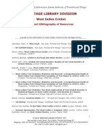 West Indies Cricket Bibliography