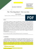 "John Earman - The ""Past Hypothesis"" Not even false"