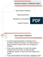 Principal Component Analysis Outliers Validation Reliability