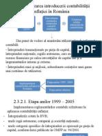 Etapizarea Introducerii Contabilitatii Inflatiei in Romania