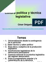 CDG - Cultura política y técnica legislativa