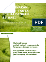 POWER POINT MATERI KALIMAT TANYA
