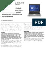 HP Elitebook 2560p Datasheet