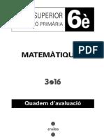 Avaluació 6è MATES